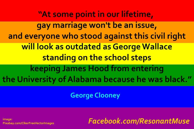 George Clooney - Gay Marriage